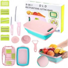 Multi Functional 9 in 1 Vegetable Cutting Board With Basket and Accessories