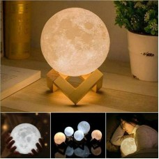Rechargeable 3D Moon Lamp 3 Color Moon Night Light with Stand