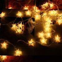 Crystal Star LED Fairy String Lights - 3m