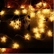 Crystal Star LED Fairy String Lights - 3m