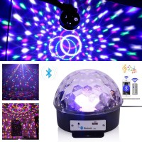 Remote Control Bluetooth and USB Supported Led DJ Ball Disco Stage Lights With Builtin Speaker