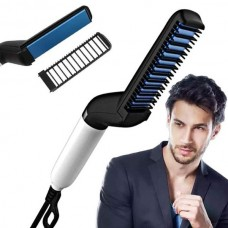 Hair & Beard Straightener Modelling Comb Ceramic-Iron For Men and Women