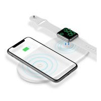 Baseus Smart 2 in 1 Wireless Qi Charger for iPhone & Apple Watch