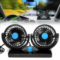 12V Dual Speed 360 Degree Rotatable Car Electric Fan