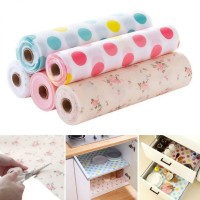 Pack of 2 Rolls of Waterproof Anti-oil Fridge Cabinet Kitchen Table Mat Pad