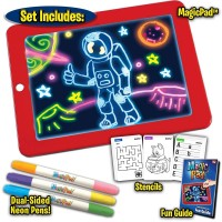 3D Magic Drawing Pad 8 Light Effects Glowing Puzzle Writing Doodle Education Kids Toy