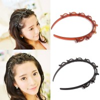 Fashionable Double Layer Hair Band Twist Front Hair Claw Clips