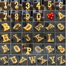 1 Piece Led Letter Light Marquee Alphabet Decorative Light Party & Wedding (Mention Your Letters In Comment)