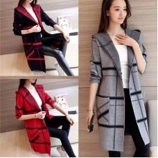 Lollipop Burberry Style Long Coat For Women