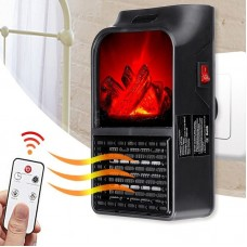 Remote Control Mini Flame Heater 500 Watt Portable Electric Fireplace Warmer