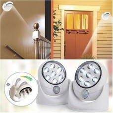 360 Degree Rotation Wireless Motion Sensor 7 LED Automatic Light