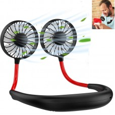 New USB Rechargeable Hands Free Portable Neck Fan