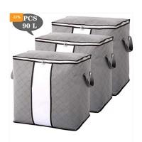 Pack Of 5 Foldable Storage Closet Organizer Bag