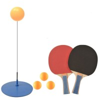 Portable Elastic Shaft Table Tennis Set with 2 Rackets